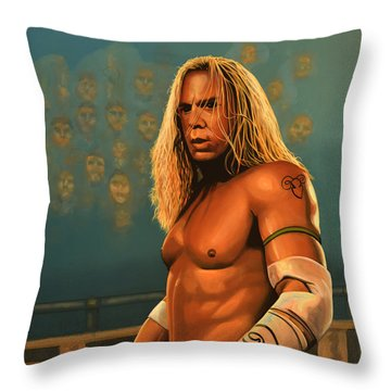 Mickey Rourke Throw Pillow