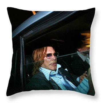 Mickey Rourke  Throw Pillow