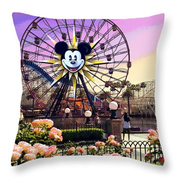 Mickey's Fun Wheel II Throw Pillow