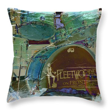 Mick's Drums Throw Pillow