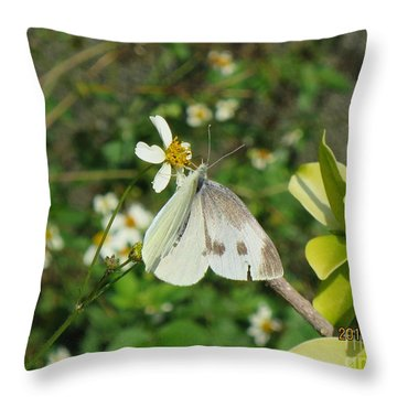 Micro Photofraphy Throw Pillow