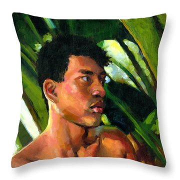 Micronesia Throw Pillow by Douglas Simonson
