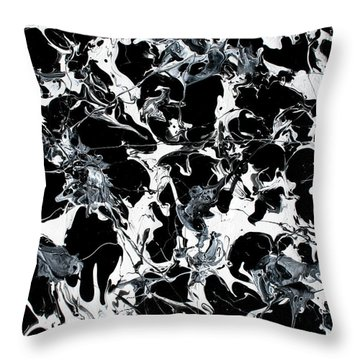 Microscopic Alien Fish Are Eating Away At My Brain Throw Pillow