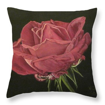 Mid Bloom Throw Pillow by Wendy Shoults