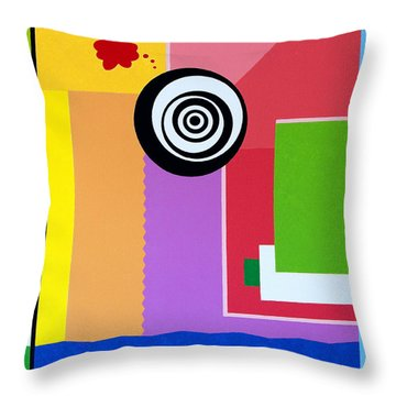 Mid Century Conflict Throw Pillow
