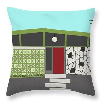 Mid Century Modern House 4 Throw Pillow