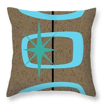 Mid Century Modern Shapes 1 Throw Pillow