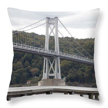 Mid Hudson Bridge Throw Pillow