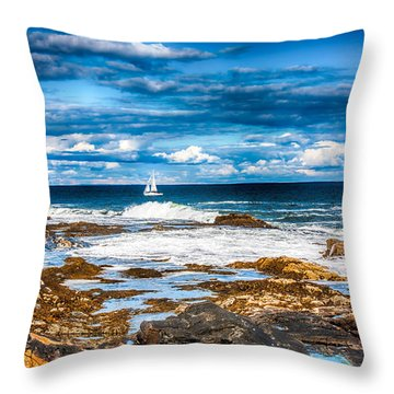 Midday Sail Throw Pillow by Fred Larson