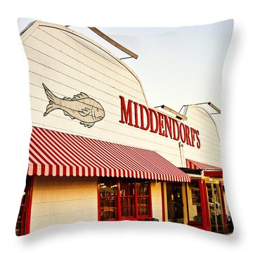 Middendorf's Throw Pillow by Scott Pellegrin
