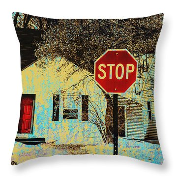 Home In The Midwest Throw Pillow