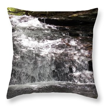 Middle Chapel Brook Falls Throw Pillow