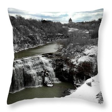Middle Falls Rochester Ny Throw Pillow by Richard Engelbrecht