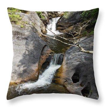 Middle Kent Falls Throw Pillow