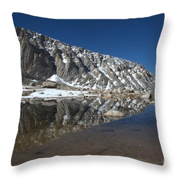 Middle Lake Reflections Throw Pillow