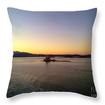 Throw Pillow featuring the photograph Middle Sea Sunrise by Ramona Matei