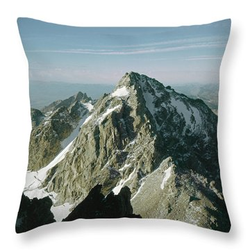 T-209207-middle Teton From Grand Teton Throw Pillow