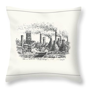 Middleport Skyline Throw Pillow
