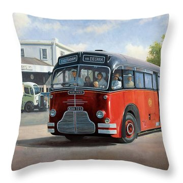Midland Red C1 Coach. Throw Pillow by Mike  Jeffries