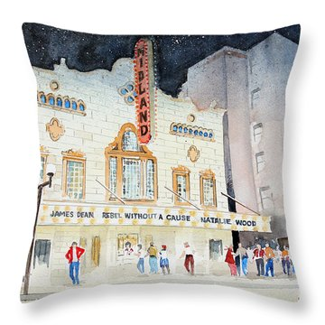 Midland Theatre Throw Pillow