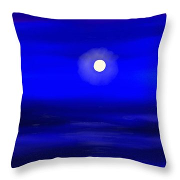 Midnight Throw Pillow by Anita Lewis