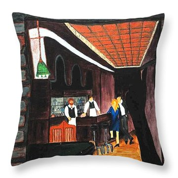 Midnight At Dylan's Throw Pillow