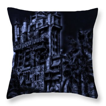 Midnight At The Tower Of Terror Throw Pillow