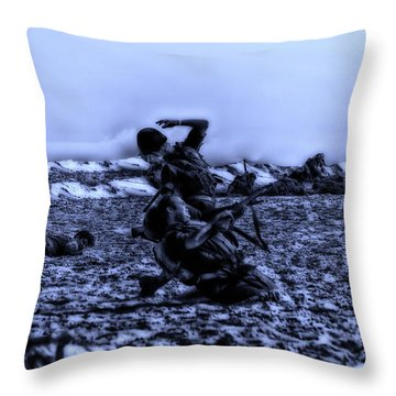 Midnight Battle Men Down Throw Pillow by Thomas Woolworth