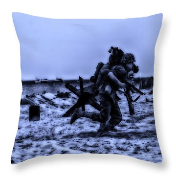 Midnight Battle Stay Close Throw Pillow by Thomas Woolworth