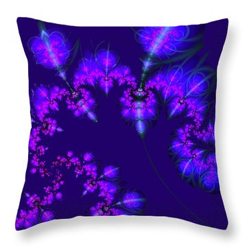 Throw Pillow featuring the digital art Midnight Blossoms by Judi Suni Hall