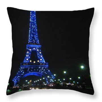 Midnight Blue Throw Pillow by Suzanne Oesterling