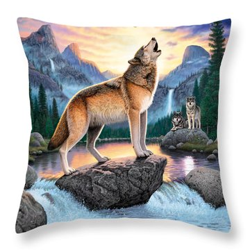 Midnight Call Throw Pillow by Chris Heitt