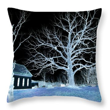 Midnight Country Church Throw Pillow