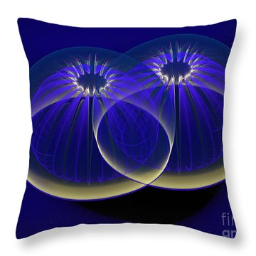 Midnight Embrace Throw Pillow by Dee Flouton