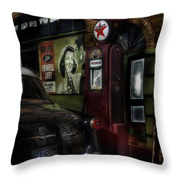 Midnight Fill Up Throw Pillow by Gary Warnimont