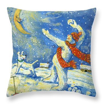 Midnight Fun And Games Throw Pillow by David Cooke
