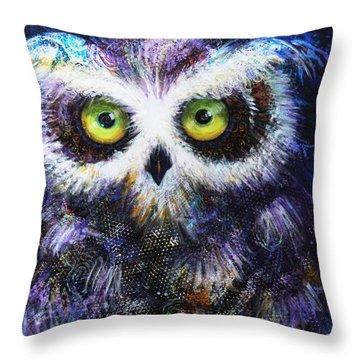 Midnight Hoot Throw Pillow