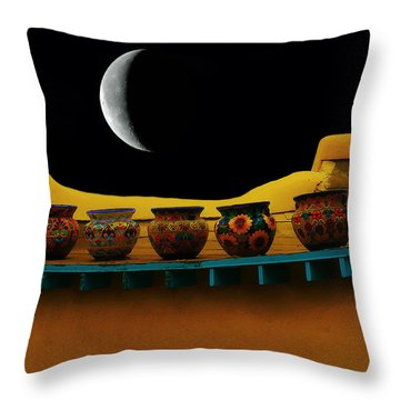 Midnight In Taos Throw Pillow