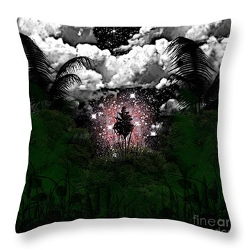 Midnight In The Wild Throw Pillow by Thomas OGrady
