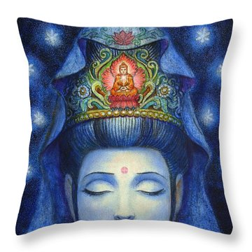 Midnight Meditation Kuan Yin Throw Pillow