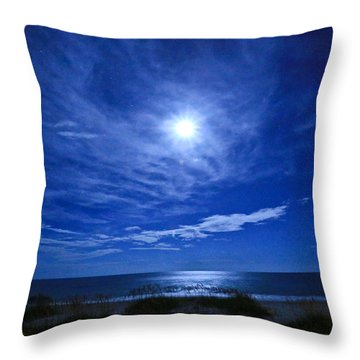 Midnight Moon Throw Pillow by John Roberts