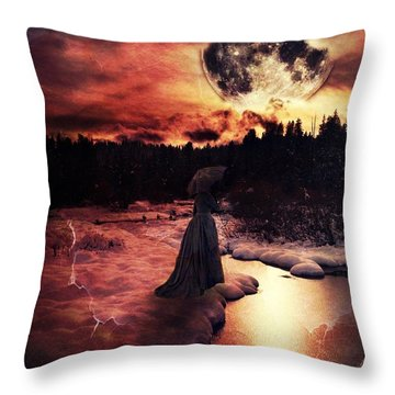 Midnight Mourning Throw Pillow