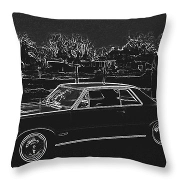 Midnight Rider Throw Pillow