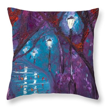 Midnight Soliloquy  Throw Pillow by Jessilyn Park