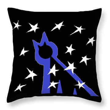 Throw Pillow featuring the painting Midnight Starlight by Anita Dale Livaditis