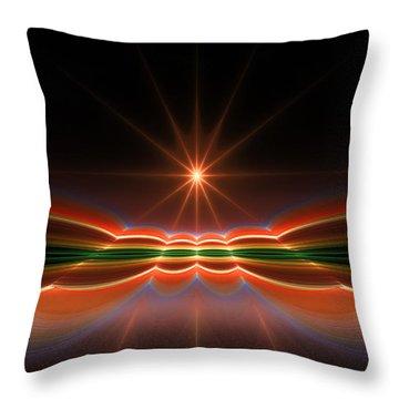 Midnight Sun Throw Pillow by GJ Blackman