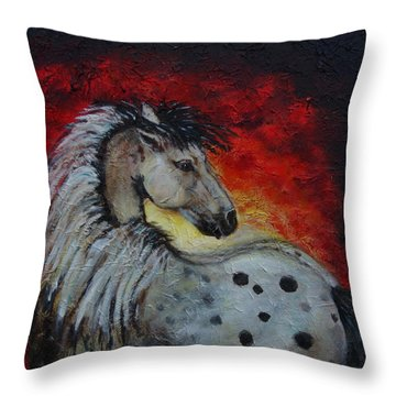 Midnight Sun Throw Pillow by The Art With A Heart By Charlotte Phillips