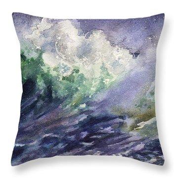 Midnight Surf Throw Pillow