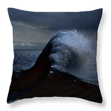 Midnight Swim Throw Pillow by Joe Schofield