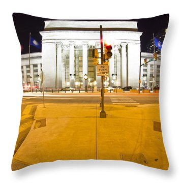 Midnight Train From Philly Throw Pillow